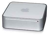 The Mac mini, low-cost desktop computer.