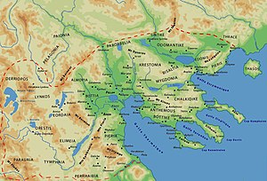 Pelagonia - Map of the Kingdom of Macedon with Pelagonia located in the northwest districts of the kingdom.