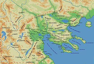 Almopia - Map of the Kingdom of Macedon with Almopia located in the central districts of the kingdom.