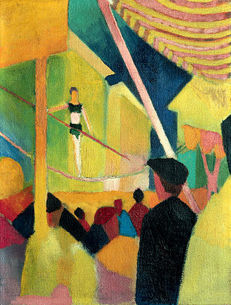 August Macke - Tightrope walker, 1913