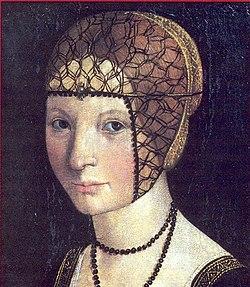Macrino d'Alba, Ritratto di Anna d'Alençon. Tempera su tavola. Crea, Santuario dell'Assunta.jpg
