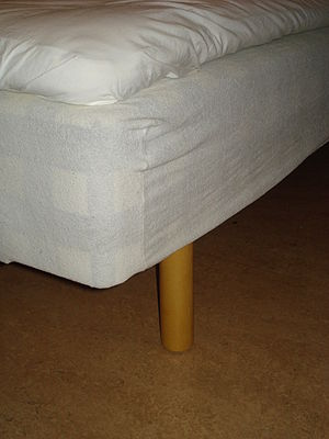 Mattress protector - A mattress protector with elastic on top of a bed base