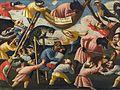"""Maestro della Fertilità dell'Uovo - Grotesque scene with animals and stylised figures, inscribed """"Fe pian pian che il porco dorme"""".jpg"""