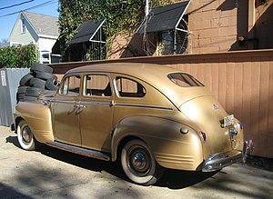 Sedan (automobile) - 1941 Plymouth fastback sedan