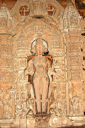 Vaikuntha Chaturmurti - Vaikuntha Chaturmurti as the central icon in Lakshmana Temple, Khajuraho