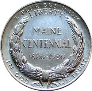 Maine Centennial half dollar - Image: Maine centennial half dollar commemorative reverse