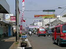 Main road in Cianjur