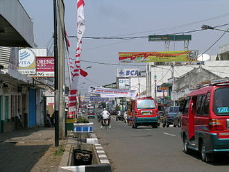 Cianjur, Cianjur Regency - Main road in Cianjur