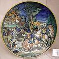 Maiolica di urbino, incendio di troia, 1535 ca.jpg
