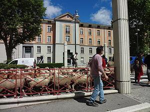Digne-les-Bains - Town hall, the former Desmichel barracks