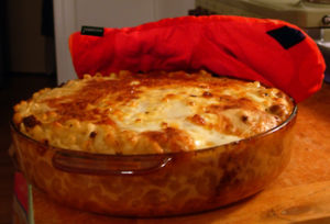English: Finnish macaroni casserole