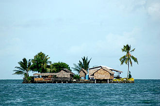 Artificial island - Reef Island off North Malaita.
