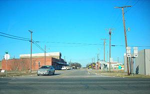Malone, Texas - Downtown Malone.