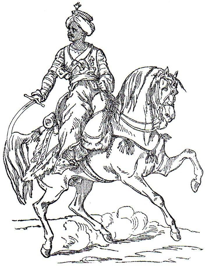 Mamelucco a cavallo della Vecchia Guardia Adolphe de Chesnel