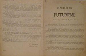 "Manifesto of Futurism - ""Manifeste du Futurisme"" by Marinetti"