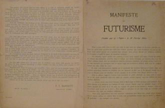 Manifesto of Futurism - French version of Manifeste du Futurisme as it appeared in Le Figaro