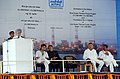 Manmohan Singh addressing at the dedication ceremony of NTPC's 2980 MW Rajiv Gandhi Sipat Super Thermal Power Station to the Nation and Foundation Stone laying of 1600 MW Stage-I of NTPC- Lara Super Thermal Power Project.jpg