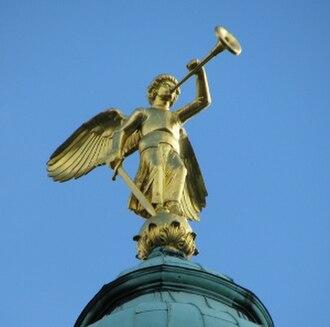 Donnerstag aus Licht - Archangel Michael as trumpeter (Christuskirche, Mannheim)