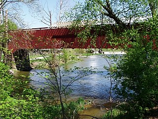 Mansfield Covered Bridge place in Indiana listed on National Register of Historic Places