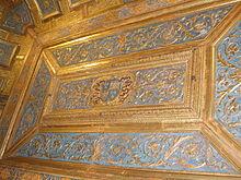 Soffitto dello studiolo con lo stemma di Isabella d'Este
