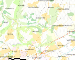 Castries, Hérault - Map