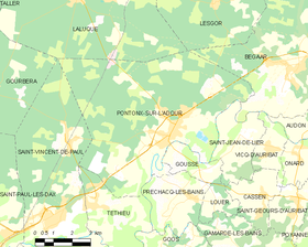 Map commune FR insee code 40230.png