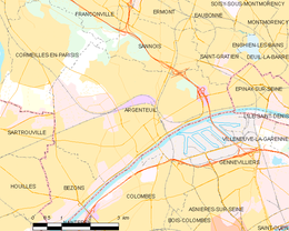 Argenteuil – Mappa