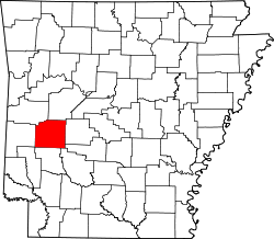 Map of Arkansas highlighting Montgomery County.svg