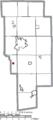 Map of Ashland County Ohio Highlighting Mifflin Village.png