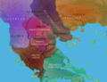Map of Balkans linguistic groups late 3rd millennium BC, according to Georgiev.png