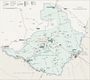Map of Big Bend National Park