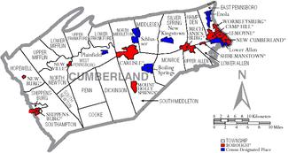 Cumberland County Pennsylvania Wikipedia - Pennsylvania county map usa