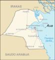 Map of Kuwait Aua (lithuanian).png