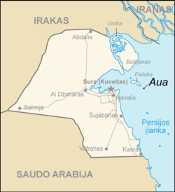 Map of Kuwait Aua (lithuanian).png