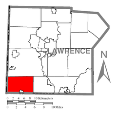 Map of Little Beaver Township, Lawrence County, Pennsylvania.png
