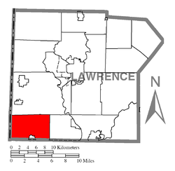 Location of Little Beaver Township in Lawrence County