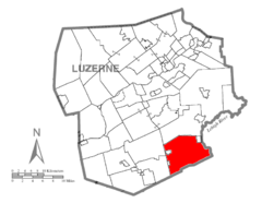 Map of Luzerne County, Pennsylvania Highlighting Foster Township.PNG