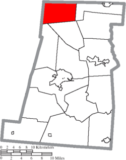 Location of Pike Township in Madison County