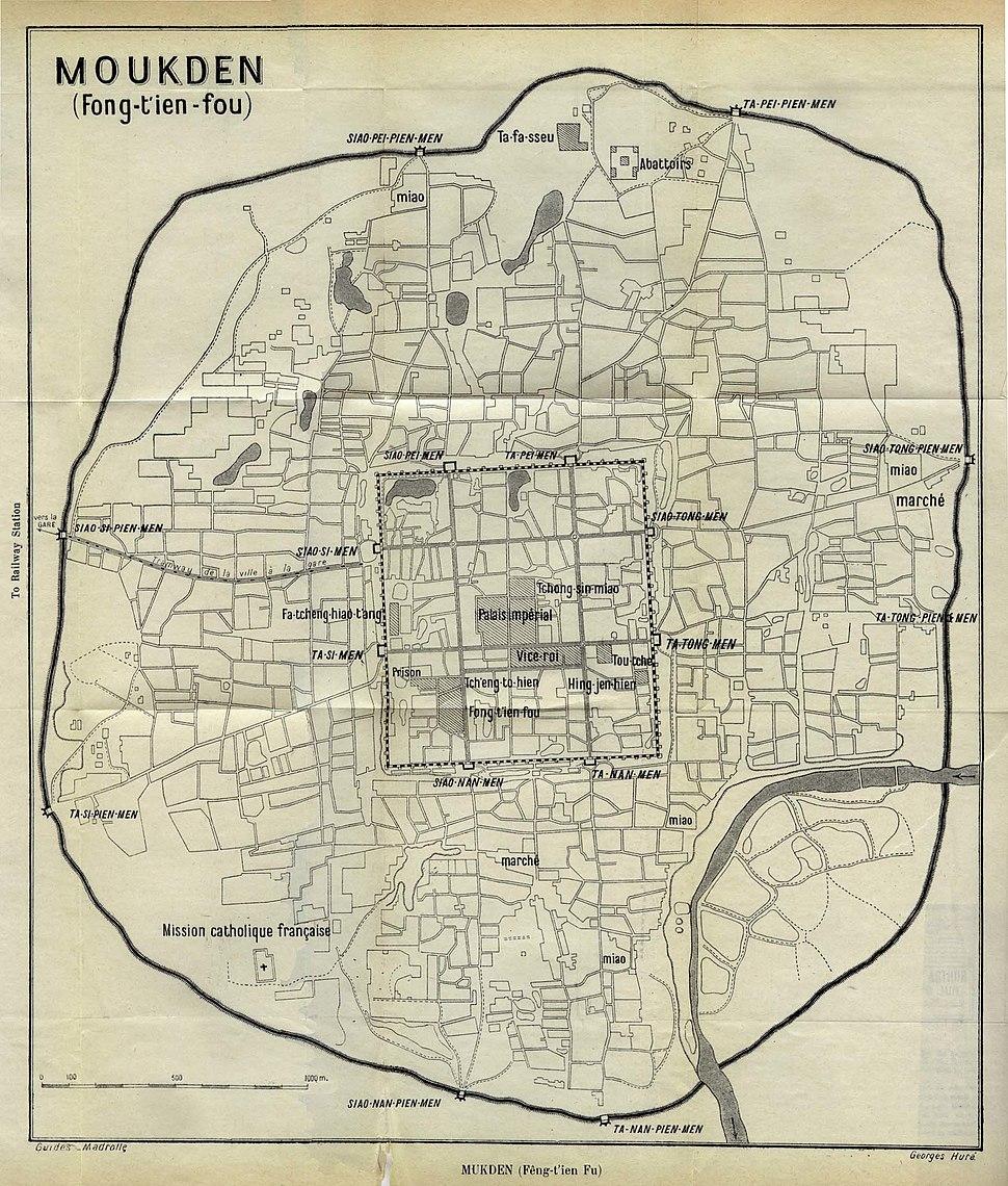 Map of Mukden 1912