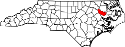 Map of North Carolina highlighting Martin County.svg
