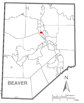 Map of Patterson Heights, Beaver County, Pennsylvania Highlighted.png