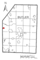 Map of Portersville, Butler County, Pennsylvania Highlighted.png