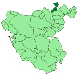 Location of Puerto Serrano