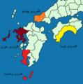Map of Satsuman, Chōshū, Hizen, and tosa Domain.png