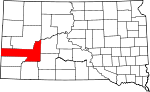 State map highlighting Pennington County