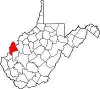Map of West Virginia highlighting Mason County