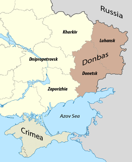 Donbass region in eastern Ukraine