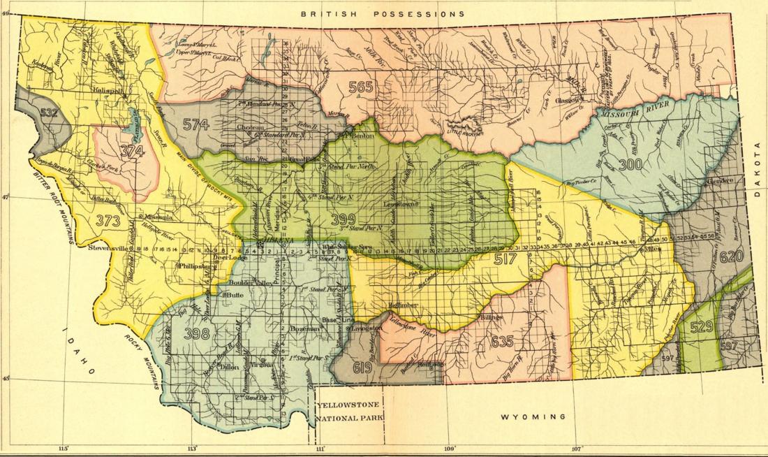 Early Indian Treaty Territories In Montana Wikipedia