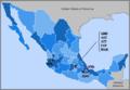 Mapa Primera division mexicana1943-44.PNG