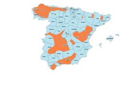 Mapa de la resistencia de los maquis al régimen franquista.